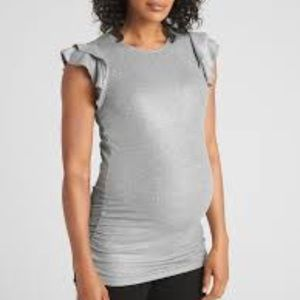 Black Gap sparkly flutter maternity tee